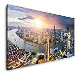 Paul Sinus Art Bangkok Thailand 120x 60cm Panorama Leinwand