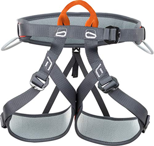 Climbing Technology Explorer, Arnés, Color Negro/Naranja, Talla unicaca