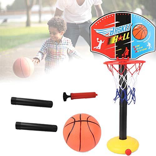 Gcroet Kinder Basketballkorb und Standbasketballkorb Wand befestigt Innen Kugel-Zahnstange für Familienspiel Indoor Outdoor tragbaren Basketballkorbs Spielzeug Heben