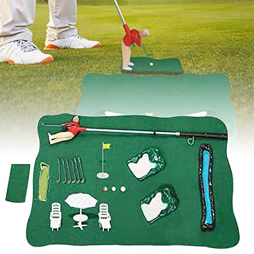 NULINULI Jeu Golf Interieur Mini Golf Set, Clubs De Golf pour Enfant Ensemble,Famille Jouets Interactifs Parent-Enfant. Rouge