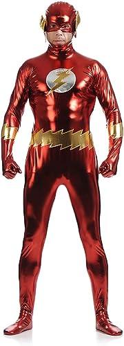 40% de descuento QWEASZER The Flash Comics Disfraz Disfraz Disfraz de disfraz con pecho musculoso moldeado y abdominales y máscara de media cara para adultos y adolescentes  marcas de diseñadores baratos