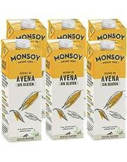 Monsoy - Bebida De Avena Sin Gluten BIO - Caja de 6 x 1L