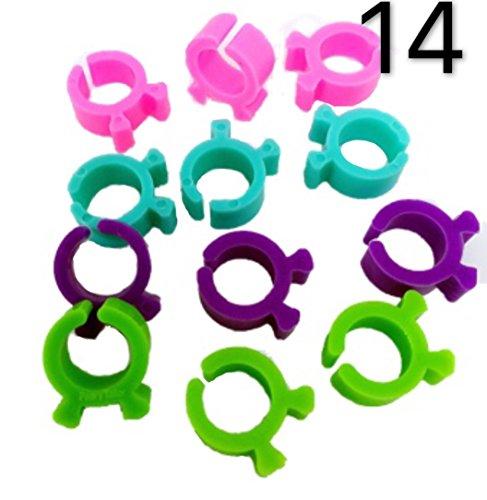 peavytailor 14PCS Gewinde Bobbin Halterungen Clips ideal für Stickereien, Quilten und Nähen Gewinde