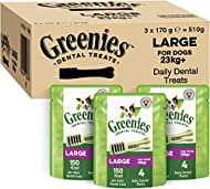 Greenies Daily Original Large Dog Treats (from 23 kg+) – The Smart Dental Treat – 3 x 170 g - 12 Che...