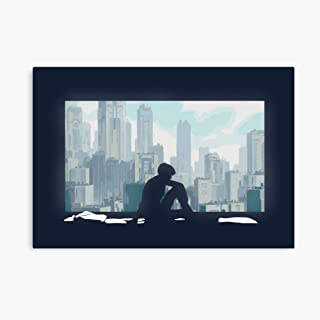 Akalin Ghost in The Shell 3D Canvas Printing Radon Frame Canvas Home Decorative Wall Art Painting Mural Printing 11.4inx8in