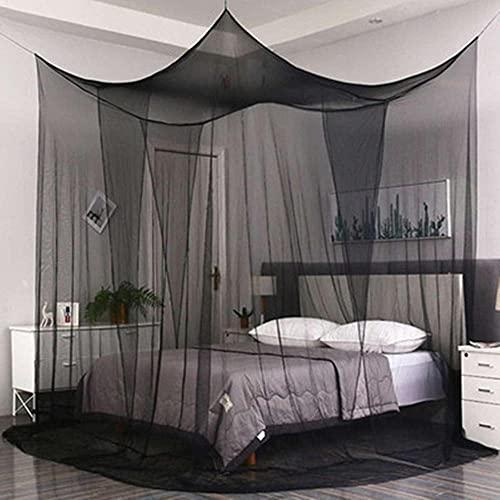 Princesa De Cordada Habitación para Niños Cuertón De Baby Coty Mosquito Mosquito Red Ropa De Cama Grande Tienda Cuadrada Grande Tienda 1 Pieza-Negro