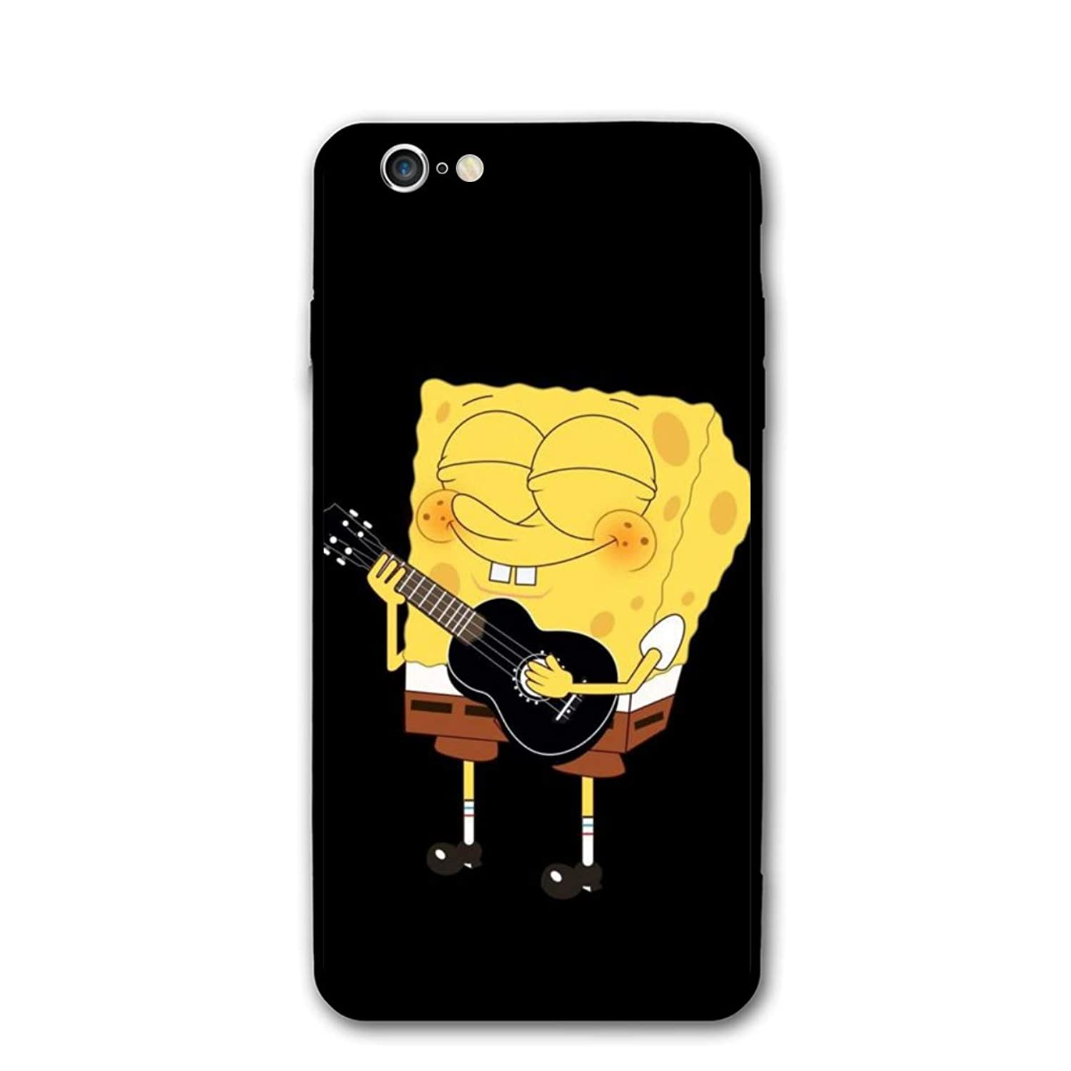 SWDFFG iPhone 6 iPhone 6S Case- Stylish Spongebob Playing Guitar PC Slim Shockproof Flexible Back Protective Case for iPhone 6 / iPhone 6S