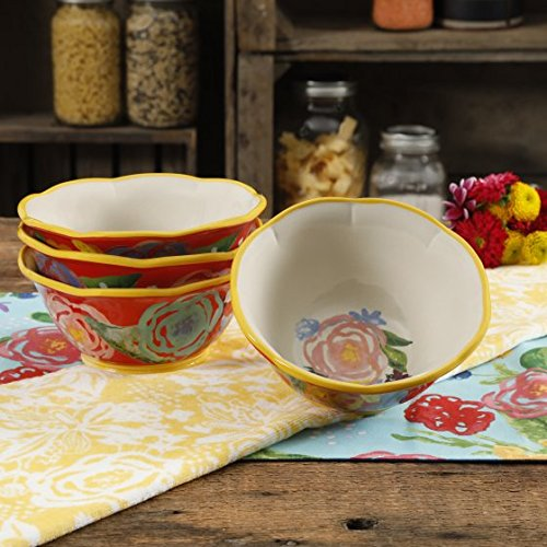 The Pioneer Woman Celia Coral 6.75-Inch Bowls, Set of 4