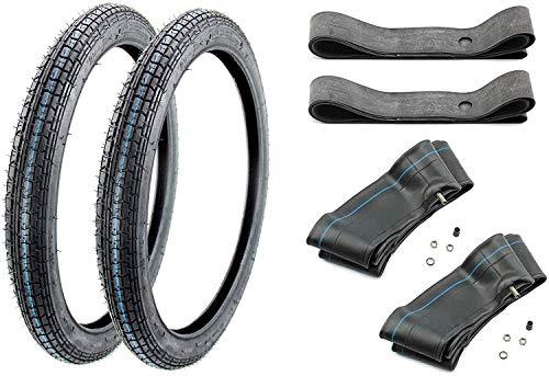 SET 2x Reifen Kenda K251 2.25 x 19 Zoll + 2x Schlauch + 2x Felgenband
