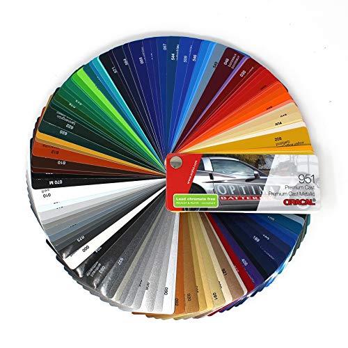 Farbfächer Plotterfolie Oracal Folie 970, 975, 951, 751 C, 651, 631/451 / 7510 Plott Folie Autofolie Werbung (Oracal 951)