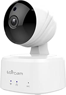 Ebitcam Smart Home WiFi Camera,Baby Monitor, Pan/Tilt/Zoom, Night Vision, Two-Way Audio, Motion Alarm, Available for iOS/Android/PC,Cloud Service Available,Work with Alexa