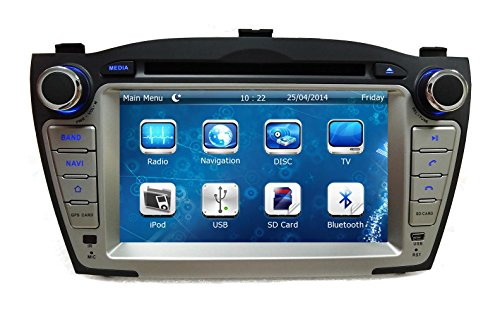 XTTEK 7 inch Touch Screen in dash Car GPS Navigation System for Hyundai Tucson 2010-2015 DVD Player+Bluetooth SWC+Backup Camera+North America Map