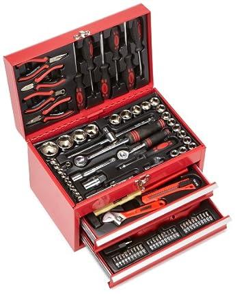 Mannesmann M29066 - Caja de herramientas equipada con 155 piezas