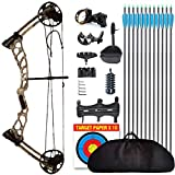 evercatch Youth Compound Bow for Hunting and Beginner,Junior Complete Set 15-40lb, Draw Length: 16-26.5