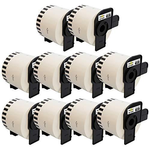Yellow Yeti 10x DK-22205 62mm x 30,48m Endlos-Etiketten kompatibel für Brother P-Touch QL-500 QL-550 QL-560 QL-570 QL-700 QL-710W QL-720NW QL-800 QL-810W QL-820NWB QL-1050 QL-1060N QL-1100 QL-1110NWB