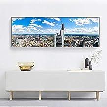 Gran Cartel Moderno Arte de la Pared Pintura Gran Ciudad Mundial Paisaje Fotos Decorar Sala de Estar,Pintura sin Marco,20X60cm