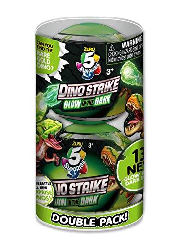 ZURU 5 Surprise 7781 Dino Strike Serie 2 Glow in The Dark, Doppelpack