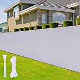 Privacy Fence Screen, Ohuhu 3' x 16.5' Polyester Balcony Privacy Screen, Outdoor Windscreen Sun Shade Cloth Cover with Zip Ties & Rope, UV Proof Weather-Resistant Screens for Porch Deck Backyard Patio