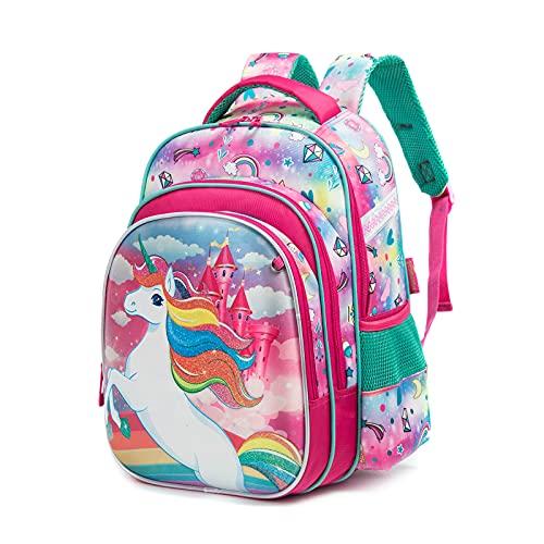 IvyH Kinderrucksack lässig Jungen Mädchen Rucksack Kinder Schulrucksack Reisetasche Schultasche für 3-7 Klasse,42x19x30cm