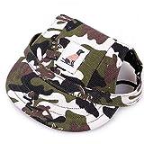 Runfon Gorra de béisbol para perro con agujeros para la barbilla para perros pequeños, gatos, cachorros, animales – M 34 cm