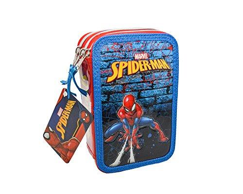 Portapastelli 3 Cerniere Astuccio Spiderman Scuola 42 Pezzi Marvel Prodotti Giotto Fair
