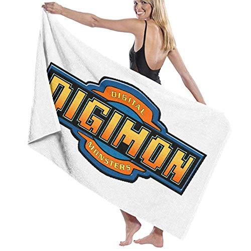 XCNGG DigiMonLogo Beach Towels Microfiber Super Soft Absorbent Blanket for Adults Women Men