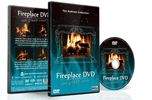 Kaminfeuer DVD - Kaminfeuer Jazz - Romantische Kaminfeuer mit Jazz Musik für Dinner Parties