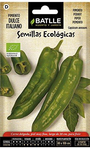 Semillas Ecológicas Hortícolas - Pimiento Dulce Italiano- ECO - Batlle
