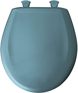Bemis 200SLOWT 064 Lift-Off Plastic Round Slow-Close Toilet Seat, Regency Blue