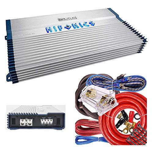 Hifonics BXX2000.1D Brutus Class D 2000W RMS Mono Car Subwoofer Amplifier w/Amp Kit