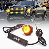 Xprite Amber Yellow LED Hideaway Strobe Lights Emergency Hazard Warning Light Bulb Kit for Police Vehicles Trucks Cars - 1PC