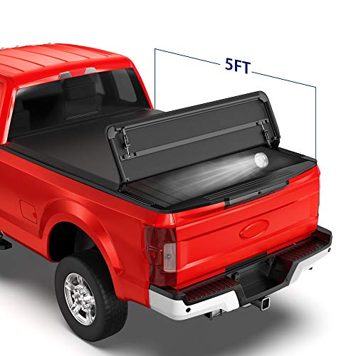 MOSTPLUS Tri Fold Soft Folding Truck Bed Tonneau Cover Compatible for...