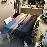 WSJIABIN Fáciles de Limpiar - Estilo Sencillo - Manteles de Sarga Multiusos - para Interior y exterio(140x180cm