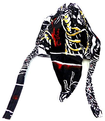 Evil Wear Kopf-Tuch 2625 Bandana Kopftuecher Zantana Head-Scarf viele Modelle für Kinder und Erwachsene Sie und Ihn O75 (Spider Skull)