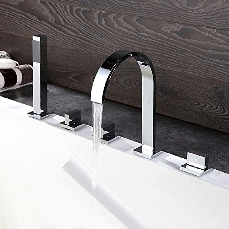 Moderne Badezimmer Mode Dusche 5ST Wasserfall Badewanne Wasserhahn