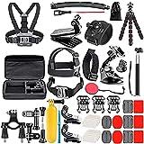 Kit di Accessori per GoPro, Bonvvie 50-in-1 Action Camera Accessory Kit per GoPro Hero 9/8/7, GoPro Max, GoPro Fusion, Insta360, DJI Osmo Action Cam, AKASO, APEMAN, Campark, SJCAM, REMALI