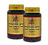 Obire | Própolis Plus | 400 mg | Con Echinacea, Tomillo y Vitamina C | Para el Bienestar y Suavidad de la Garganta | Antibacterianas y Antifúngicas | 90 Cápsulas (Pack 2 unid.)