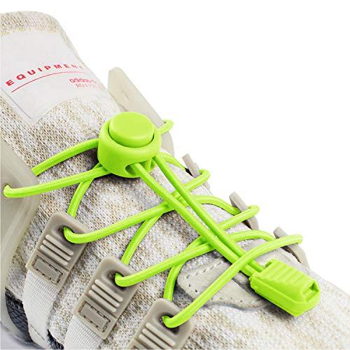 INMAKER Schnürsenkel für Sneaker, elastische Schnürsenkel für Kinder und Erwachsene, Unisex, neon Green, 47