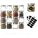 Mason Jars 8 OZ- Small Mason Jars With Silver Lids -1/4 Quart Canning Jars| Storage Pickling Jars For Jelly, Jam, Honey, Pickles - Spice Glass Jars - Set of 30 With Free 30 Chalkboard Labels