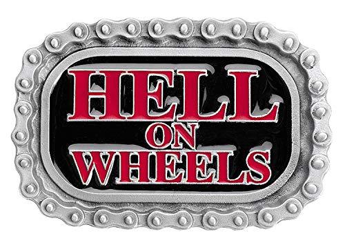 SunnyTrade24 Buckle HellWheels - extrem coole Rockabilly Biker Gürtelschnalle aus 100{395c0807c626f8a99580f59ceb0ba1165db4c779fdf642902c84469446f68423} Metall - Geschenk für Männer