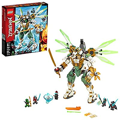 LEGO NINJAGO Lloyd's Titan Mech 70676 Ninja Toy Building Kit with Ninja Minifigures for Creative Play, Fun Action Toy includes NINJAGO characters including Lloyd, Zane FS and more (876 Pieces)