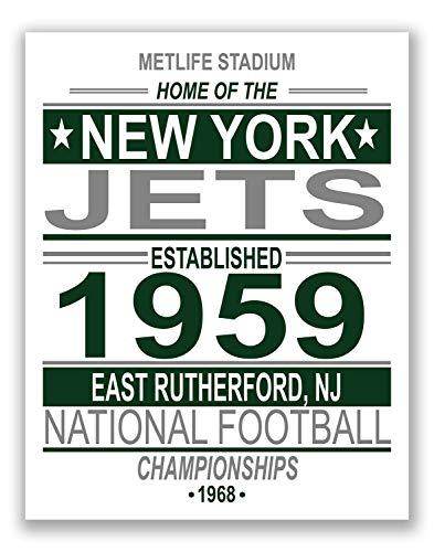 New York Jets NFL Poster - Vintage Championship Team - 11x14 Matte Poster Print