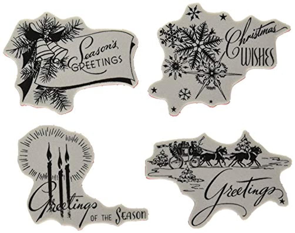 Stampers Anonymous CMS353 ClingStamp TH Holiday Greeting, None