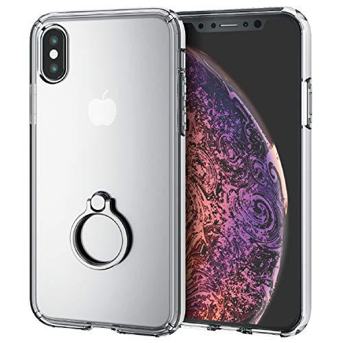 エレコム iPhone XS ケース 衝撃吸収 TRANTECT ハイブリッド フィンガーリング付属 [iPhone を美しく守る。...