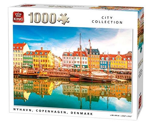 King 5704 Nyhavn Dinamarca - Puzzle (68 x 49 cm, 1000 Piezas)