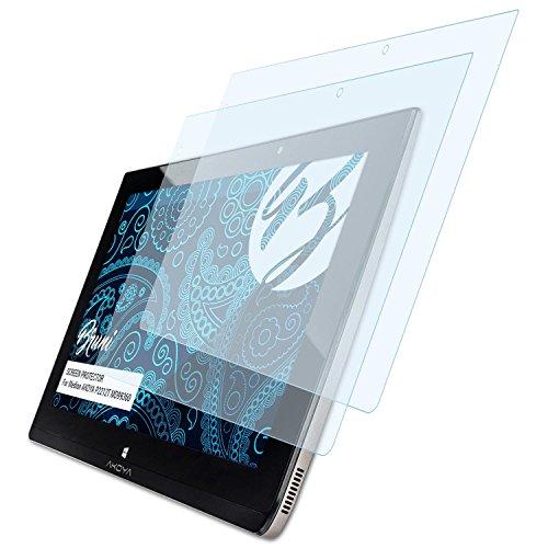 Bruni Schutzfolie kompatibel mit Medion AKOYA P2212T MD99360 Folie, glasklare Displayschutzfolie (2X)