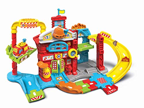 Vtech Toddler Interactive and Educational Toy for Children with Music and Light For Kids Boys and Girls 503903 Toot Drivers Refresh Fire Station, Multicolour