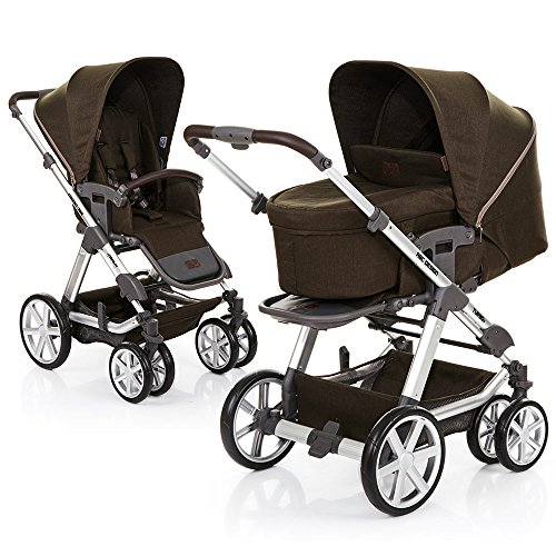 ABC Design Turbo 6 - Kombikinderwagen - Komplett-Set 2in1 - inkl. Babywanne & Sportwagen (Leaf)