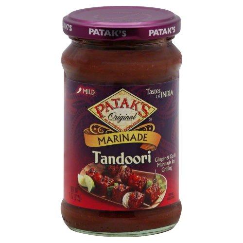 Patak's Spicy Ginger & Garlic Marinade and Grill Sauce Tandoori Mild - 10 oz