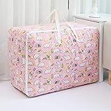 BBGSFDC Bolsa de almacenamiento grande de algodón y lino plegable para el hogar, organizador de juguetes, organizador de ropa, bolsa de viaje, 60 x 40 x 24 cm